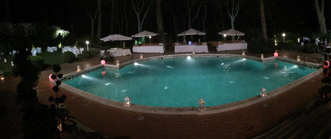 panoramica bordo piscina Villa Majestic