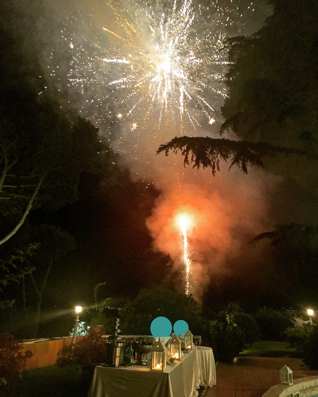 Fuochi d'artificio a VIlla Majestic